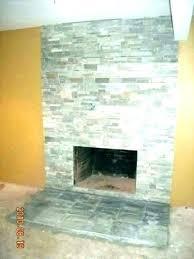 refacing brick fireplace with stone veneer