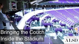 Mystic Lakes Club Purple Bringing The Couch Inside U S Bank Stadium