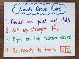 Small Group Rules Chart Kindergarten Smarts
