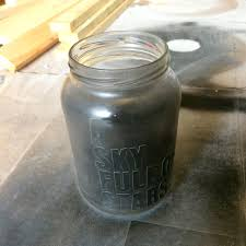 spray painting a glass jar northstory ca