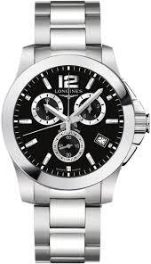 longines conquest l3 660 4 56 6 mens 41mm quartz chronograph watch longines conquest l3 660 4 56 6 image 0