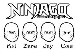 Kleurplaat Lego Ninjago Jay