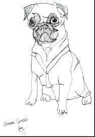 Pug Dog Coloring Sheets Pictures Color At One Background Pages