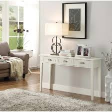 white console table with drawer. Home Decorators Collection Amelia 3-Drawer White Wooden Console Table-SK17738 - The Depot Table With Drawer O