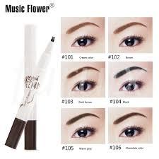 <b>Music Flower</b> Fork Tip Eyebrow Pen Tattoo Pencil Anti <b>Air</b> Quick Dry ...