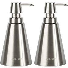 Amazon.com: Jagurds Stainless Steel Soap Dispenser - Refillable ...
