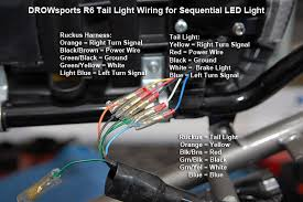 bull view topic drowsports ruckus r tail light male connectors on the side four wires b spade terminal crimp on the black ground wires joint the two black wires together