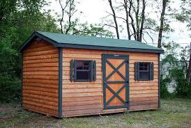 cedar garden shed. Leonard Cedar Sided Shed With Metal Roof Garden
