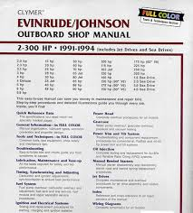 buy evinrude johnson 2 300hp 91 93 clymer outboard engine manual click to enlarge