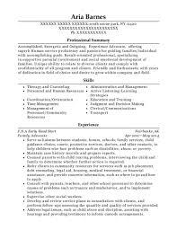 Habilitation Specialist Sample Resume