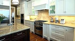 cream backsplash with white cabinets best for cream kitchen ideas glass tile cream stacked stone backsplash