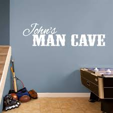 Custom Name Man Cave Wall Decals and Stickers