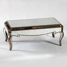 image of venetian antique mirrored gold edged coffee table