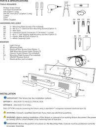 Vanity Light Wiring Diagram Vanity1 Vanity Light User Manual Capstone Industries