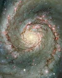 whirlpool galaxy, m51, cosmos, stars ...