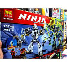 Lắp ráp Xếp hình not Lego Ninjago (757 mảnh) BELA 10399 người máy robot  Chiên Giáp Hợp Thể(ảnh thật) tốt giá rẻ