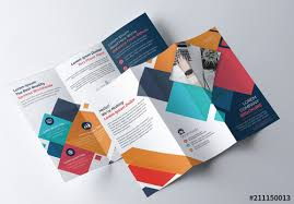 Tri Fold Brochure Layout Colorful Geometric Tri Fold Brochure Layout Buy This Stock Template