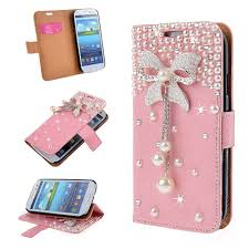 samsung galaxy s5 protective cases for girls. pink diamond 3d bow wallet case stand cover for samsung galaxy s8 / note 8 5, s5 protective cases girls t
