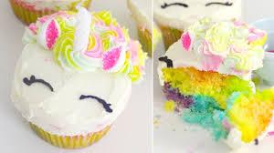 Rainbow Unicorn Cupcakes Recipe Youtube