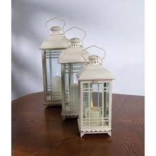 outdoor candles lanterns and lighting. white lantern set of three outdoor candles lanterns and lighting t