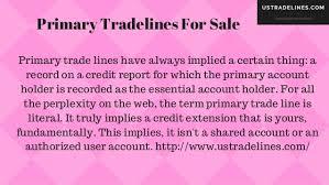 Primary Tradelines For Sale Ustradelines Com