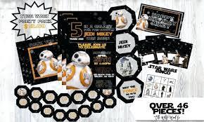 Image 0 Star Wars Birthday Decorations Party Invitation