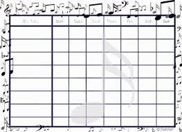 Free Printable Music Practice Charts Free Printable Chore Charts That Teach Responsibility Diy