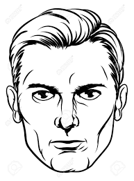 a handsome mans face in a cartoon pop art ic book style stock vector 73049287