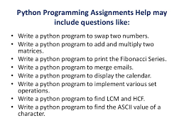 python programming assignment help python assignment experts 6 python programming assignments