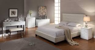 vegas white glass bedroom furniture