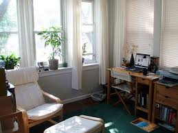 curtains for home office. Curtains For Home Office. Affordable White Curtain Panels Give This Office Interior A Light U