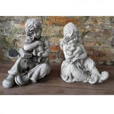 children garden statues. Children With Pets Garden Statues I