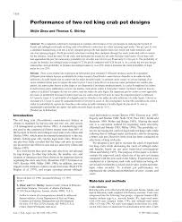 King Crab Pot Design Pdf Performance Of Two Red King Crab Pot Designs