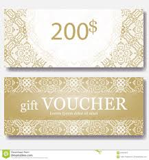 gift voucher vector coupon template stock vector image  gift voucher template mandala design certificate for sport center magazine or etc