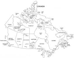 Map Of Canada Coloring Page Coloring Page Book
