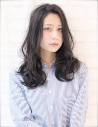 大人かわいい暗髪ゆるふわパーマ Wa 154 ヘアカタログ髪型ヘア
