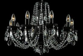 10 light black crystal chandelier in nickel tl 852 084 010