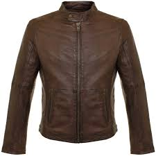 human scales pete brown leather jacket 103 men s leather jackets leisure styles brown 38563363