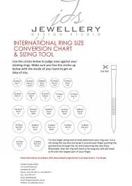 International Ring Size Conversion Chart Sizing Tool By