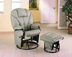 glider rocker swivel chairs. coaster knitted pillow style bone leatherette swivel glider rocking chair w/ottoman rocker chairs r