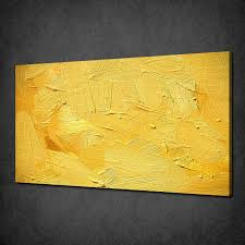 abstract yellow painting texture modern canvas print picture art free uk p p