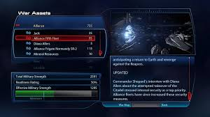 Mass Effect Decision Chart War Assets In Mass Effect 3