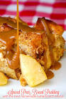 butterscotch pear bread pudding