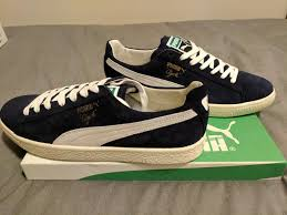 puma clyde home suede leather made in italy blue us 9 453 759 limited men s shoes puma shoes for kids puma tx 3 super quality