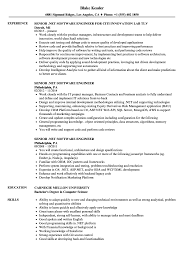 Experienced Software Engineer Resume Senior NET Software Engineer Resume Samples Velvet Jobs 12