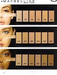 Maybelline Skin Tone Chart Details About Maybelline Fit Me Foundation Choose Your