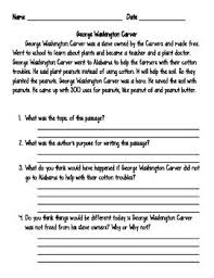 best george washington carver images george  worksheet to supplement lower elementary featured anchor text weed is a flower the life of george washington carver