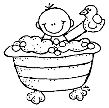 bathroom clipart black and white. Simple Bathroom Bath Time Clipart Black And White Throughout Bathroom