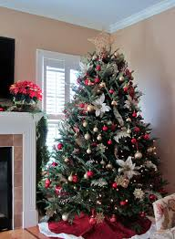 Red And White Christmas Tree Decoration Ideas Nice Decoration
