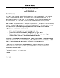 Customer Service Representative Cover Letter Template Cooperative